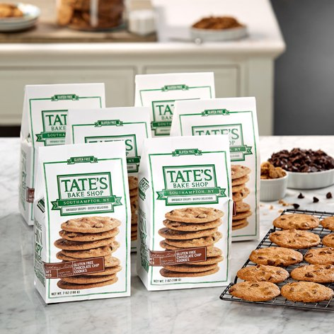 Tate's Bake Shop 6 Pack Gluten Free Chocolate Chip Cookies Tate's Exclusive by Tate's Bake Shop