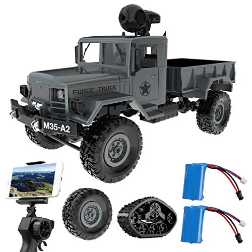 Remokids RC Military Truck with Wi-Fi HD Camera