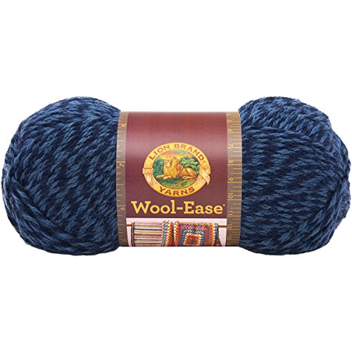 (Lion Brand Yarn 620-194B Wool-Ease Yarn, Denim Twist)