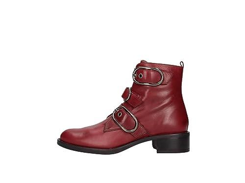 Unisa Edwin Botines Bajos Mujer Burdeos 37: Amazon.es: Zapatos y complementos