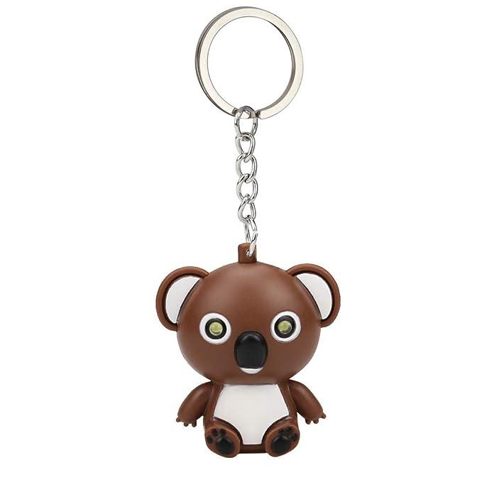 Sonmer - Llavero pequeño Koala, con luz LED y función de ...