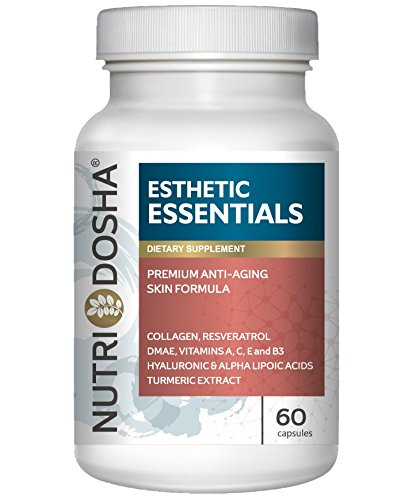 Nutridosha Anti-aging Ultra-Hydrating Amino and Antioxidant Enriched Supplement with 300mg Alpha Lipoic Acid (ALA), DMAE, Collagen, Resveratrol, Hyaluronic Acid, and Turmeric Extract for Women and Men Review