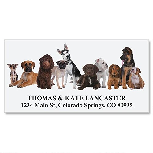 Bow Wow Self-Adhesive, Flat-Sheet Deluxe Address Labels