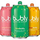 #6: bubly Sparkling Water, 3 Flavor Variety Pack, 12 Ounce Cans (18 Count)
