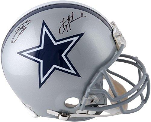 Emmitt Smith & Troy Aikman Dallas Cowboys Autographed Riddell Pro-Line Helmet - Fanatics Authentic Certified ()