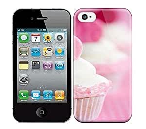 Best Power(Tm) HD Colorful Painted Watercolor Heart Cupcake Idea For Valentine'S Day Hard Phone Case For Iphone 4/4S