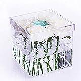 Choice Fun Acrylic Flower Box Clear Water Holder Vase Wedding Flower Holder Decorative