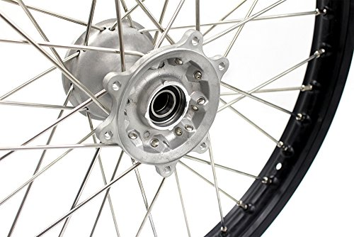 KKE HONDA MX COMPLETE CASTING WHEELS RIMS SET 21/19 CR125R CR250R 96-99 CR500R 96-01 by KKE (Image #7)