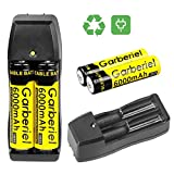 4 x 3.7V Li-ion 6000mAh 18650 Battery Rechargeable Batteries + 2x Dual Charger