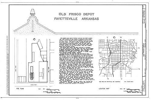 HistoricalFindings Photo: Old Frisco Depot,550 West Dickson,Fayetteville,Washington County,Arkansas,AR -