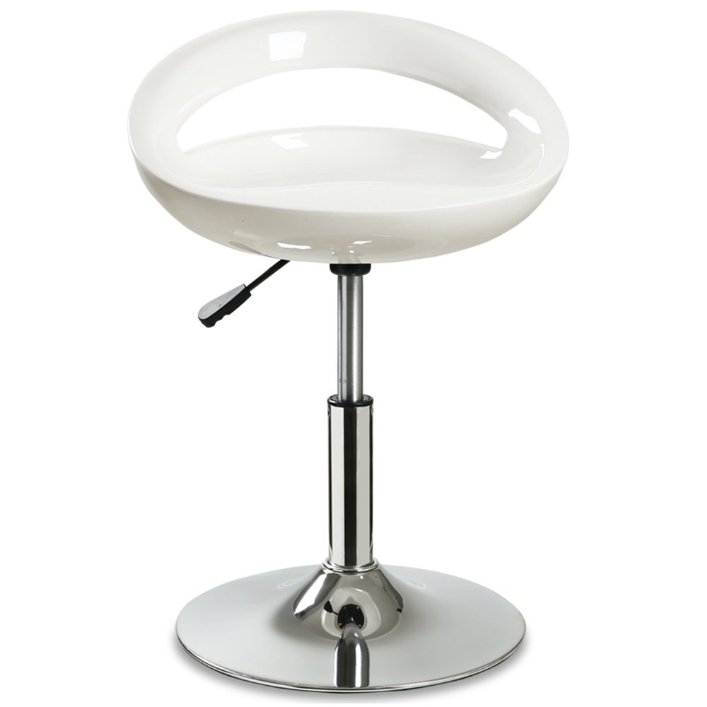 Backrest bar chair, bar stool, front desk, high stool, simple bar stool, bar stool, lift chair -by TIANTA (Color : White)