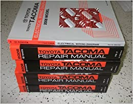 2008 toyota tacoma truck service repair shop manual set oem factory books  huge (4 volume set, and the electrical wiring diagrams manual
