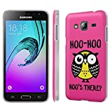 Galaxy [J3] Phone Case [SlickCandy] [Matte] Ultra Slim Cover - [Hoo is There Owl] for Samsung Galaxy J3 [2016] [Amp Prime] [Express Prime]