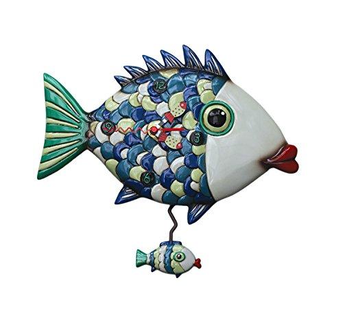 Fishy Lips Pendulum Wall Clock