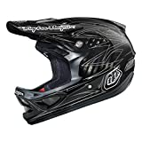 Troy Lee Designs Pinstripe II D3 Carbon Bike Race BMX Helmet - Black/Medium