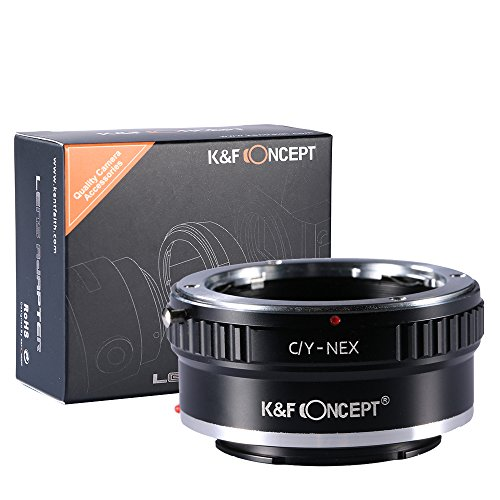 K&F Concept Lens Mount Adapter, Contax/Yashica (C/Y) Lens to Sony Alpha NEX E-Mount Camera ()