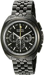 Bulova Accu Swiss Men's 65B160 Mechanical Hand Wind Black Watch
