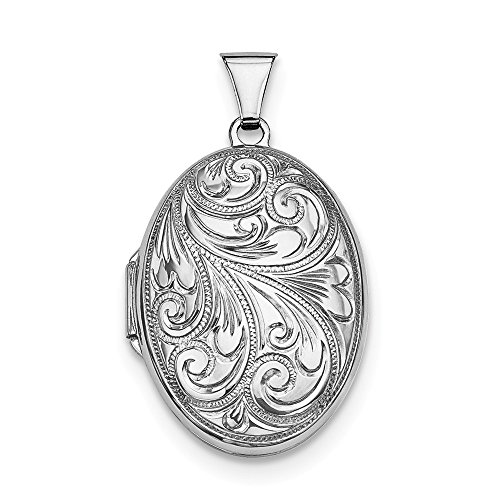 925 Sterling Silver Scroll Oval Photo Pendant Charm Locket Chain Necklace That Holds Pictures Fine Jewelry Gifts For Women For Her