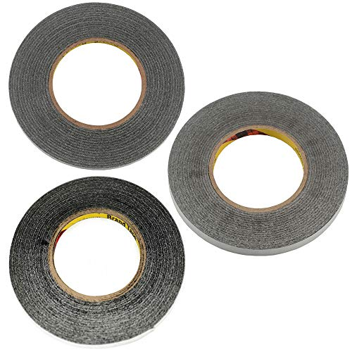 Mixed Size 3pcs 50 meters1mm 2mm 3mm for 3M Double Sided Tape Sticky Black for Mobile Phone LCD Pannel Display Screen Repair Housing