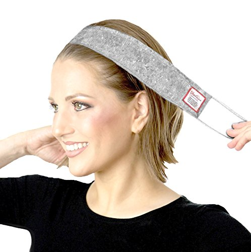Price comparison product image ShariRose Non-Slip Head-Band Wig Grip Adjustable Headband For Under Headscarves (Silver Gray Velvet)