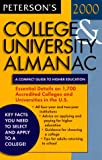 College and University Almanac 2000, Peterson's Guides Staff, 0768902630