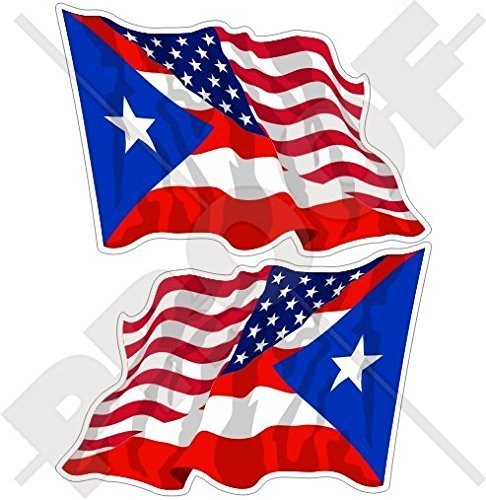 (USA United States of America & PUERTO RICO, American-Puerto Rican Flying Flag 3