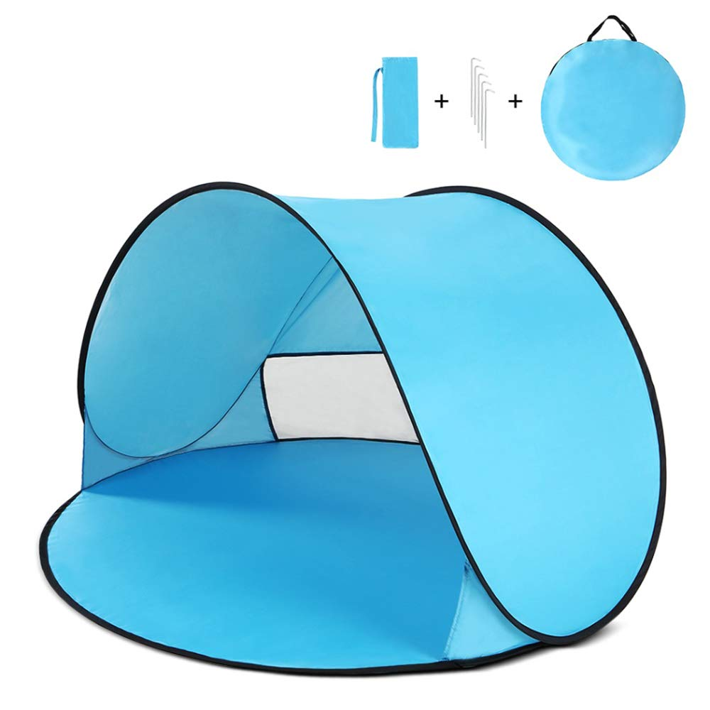 Portable Outdoor UV Tent for Beach Summer Tent with Bag,Blue by Tent Sun Shelter