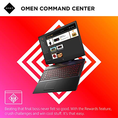 Omen by HP 2019 17-Inch Gaming Laptop, Intel i7-9750H, NVIDIA GeForce GTX 1660 Ti (6 GB), 8 GB RAM, 512 GB Solid-State Drive, VR Ready, Windows 10 Home (17-cb0060nr, Shadow Black)
