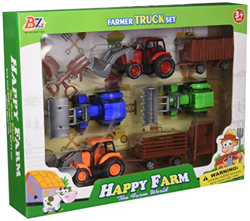 Farm Toy Truck - Kole Farm Tractor Truck & Trailer Set Kids Toy Vehicles