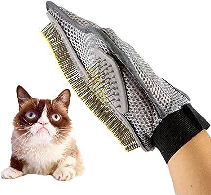 Pet Grooming Guante, SUAVER perros de gato Bañador de masaje Peine de guantes de cepillo, Deshedding Guante