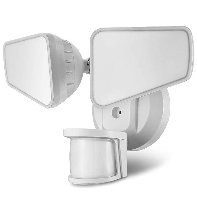 STASUN 32W LED Strahler mit einstellbarem Bewegungsmelder, 240° Erfassungswinkel, 2200LM, 5000K Tageslichtweiß, IP65 Wasserdi