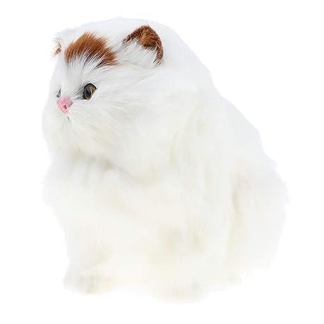 Sharplace Juguete de Animales de Peluche Modelo de Gato Gordo de Simulación Regalo para Niños Niñas