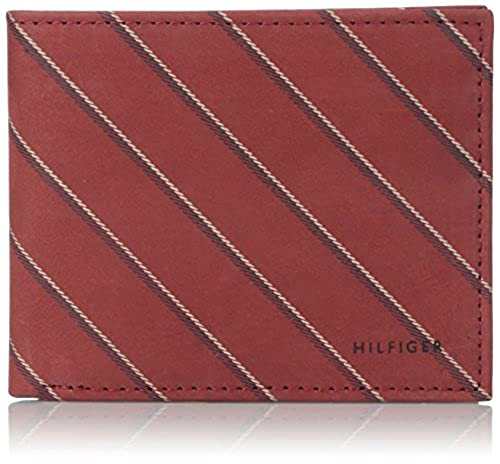 02. Tommy Hilfiger Men's School Boy-Stripe Double Billfold
