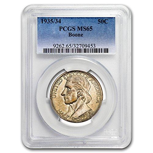 1935 1934 Boone Half Dollar MS-65 PCGS Half - Five Dollar 1934
