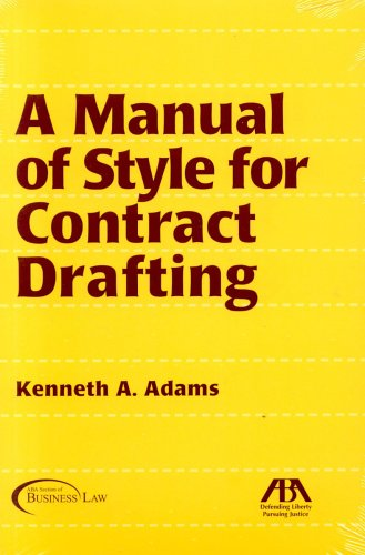 A Manual of Style for Contract Drafting by Brand: American Bar Association
