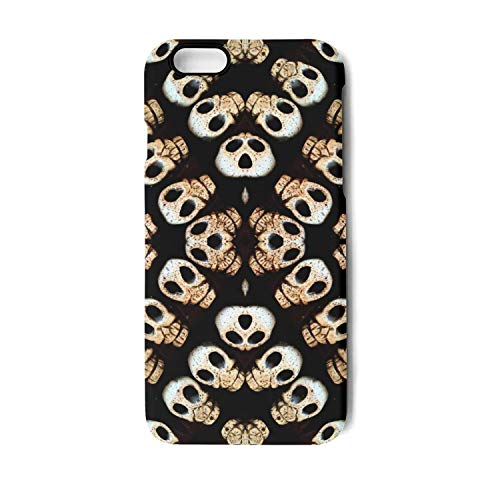 (iPhone 7 Case/iPhone 8 Case Halloween Skull Shock Proof/Anti-Finger/Anti-Scratch/Double Coverage/Max Protection Phone Case for iPhone)