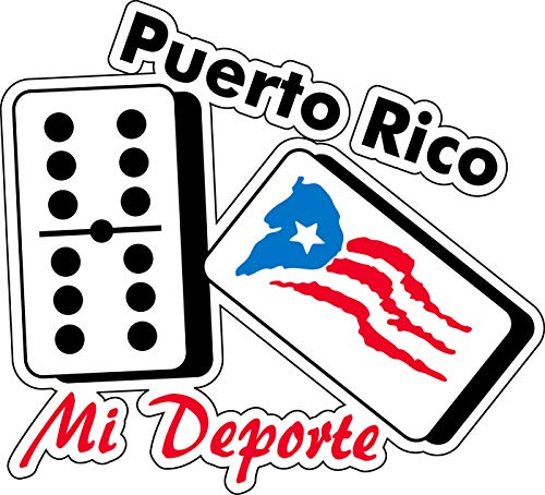 Puerto Rico Dominoes with Flag (4.5 X 4.5) Sticker