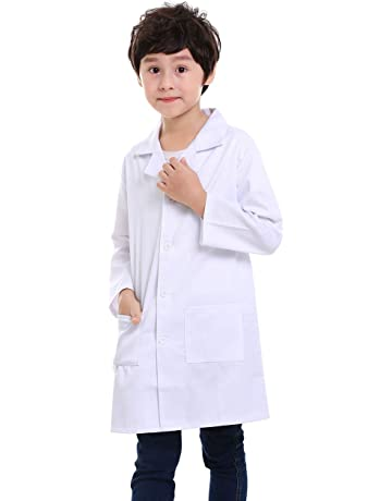 8e176c42336 TOPTIE Kids Scrubs White Lab Coats for Scientists or Doctors