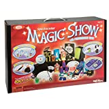 Ideal 100-Trick Spectacular Magic Show Suitcase lets children wow their audiences and amaze even themselves! Learn the great secrets of illusion from one of the most complete magic sets ever made. This set comes with a magic hat, magic wand, suitcase...