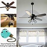 Ceiling Fan Switch 3 Speed 4 Wire Zing Ear ZE-268S6 Zipper Switch Control Replace 3 Speed Control Switch Ceiling Fan, Wall Lamp, Cabinet Light