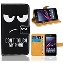 Sony Xperia Z1 Case, FoneExpert® Premium Leather Flip Wallet Bag Case Cover For Sony Xperia Z1