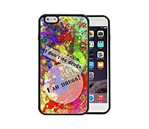 Colorful Abstract Art Paint Splatter Quote iPhone 6 Plus, 5.5 TPU Phone Case Loskin customize case