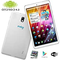 Indigi 7.0 Fastest Dual-Core White Android 4.2 Tablet PC HDMI Google Play Leather Back