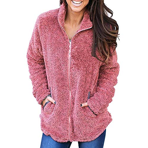 Plus Size Coats and Jackets for Women, Women Fluffy Plush Warm Winter Pure Color Coat Jumper Overcoat Jacket Outwear, Coats for Women]()