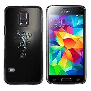 EJOY---Cubierta de la caja de protección la piel dura para el / Samsung Galaxy S5 Mini, SM-G800 / --Escucha el rugido Lanniser