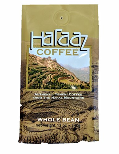 Brutal To Find Authentic Coffea Arabica Mocha Coffee from the Haraaz Mountains (Yemen) Medium Roasted Whole Beans 12 oz bag