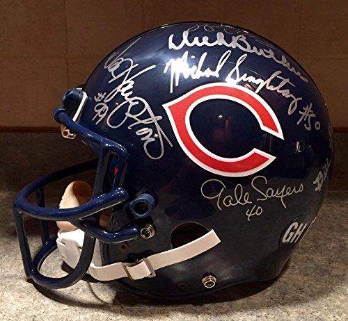 Walter Payton & Bears HOF Team Signed Pro NFL Football Game Helmet LOA SB XX - PSA/DNA Certified - Autographed NFL (Autographed Hof Pro Helmet)