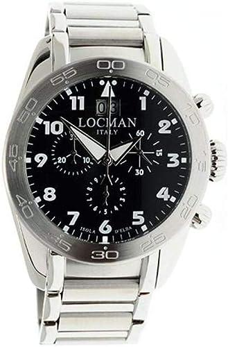 Orologio locman 0460a0100bkwhb0 quarzo analogico titanio uomo