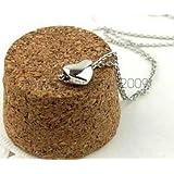 Silver - Women Elegant Cute Smal Love Heart Pendant Short Chain Necklace Present Gift