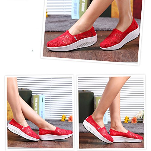 Shoes Casual Comfortable Soft Fashion by Slip Btrada Womens Sneakers on Red Travel Tp1zx8